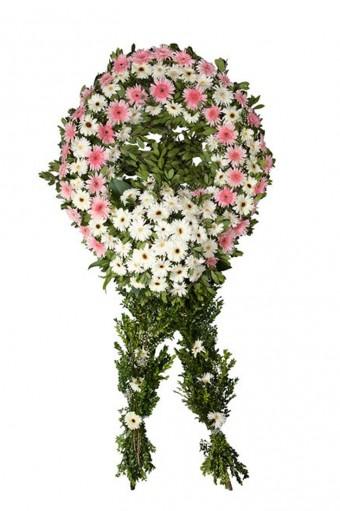 Pembe Beyaz Cenaze Çelengi