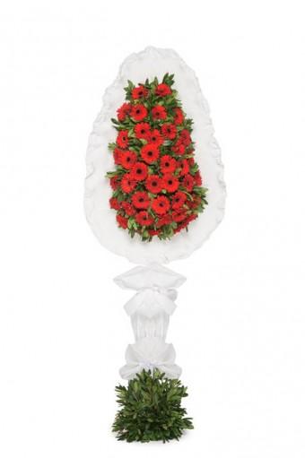 Kırmızı Gerbera Çiçekleri Çelenk